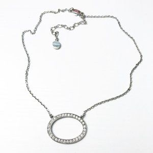 Givenchy Pave Crystal Ring Necklace
